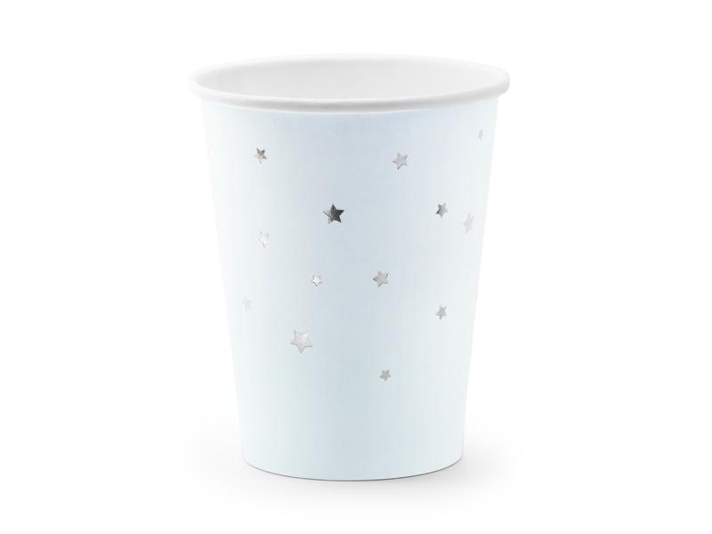 Copos Estrelas Azul Claro