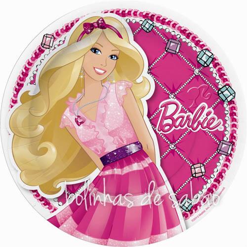 Pratos 8 unidades 23cm - Barbie