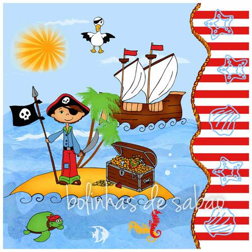 Guardanapos Piratas 33 cm - 20 unidades
