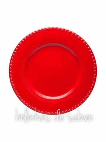 Prato Marcador 34 cm - Vermelho