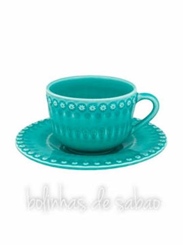 Chávenas de Chá - Verde Água