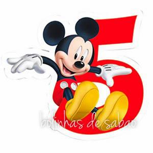Velas Disney Mickey - Números 5