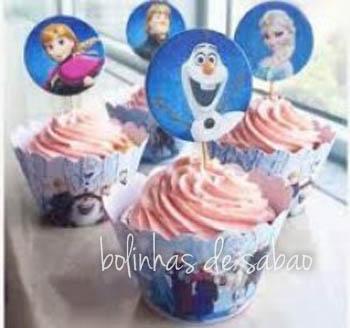 Cupcakes 5 unidades - Frozen
