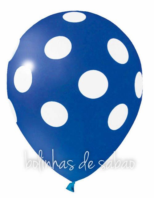 Balões Bolinhas 5 unidades - Azul Escuro