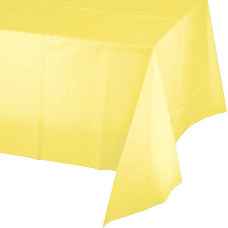 Toalha de Mesa Plástico - Amarelo