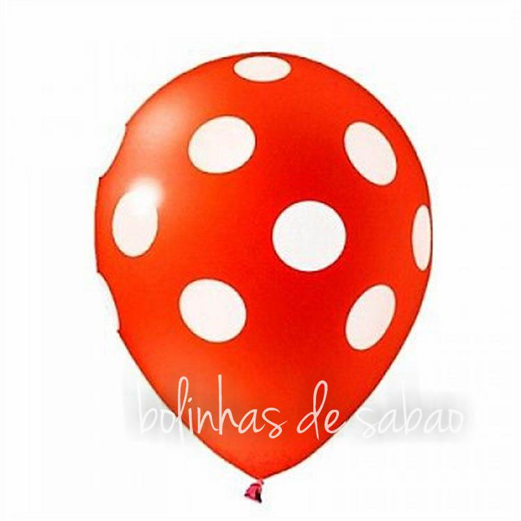 Balões Bolinhas 10 unidades - Vermelho