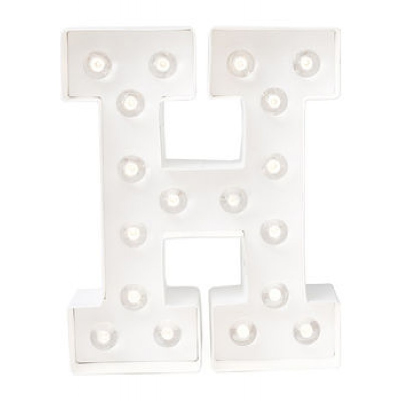 Letra H Luminosa