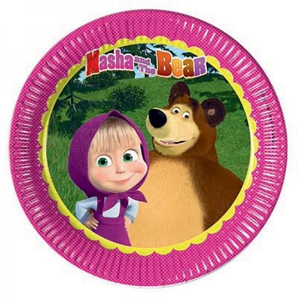 Pratos Masha e Urso- 23 cm