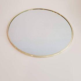 Base Espelho Rebordo Dourado - 20 cm