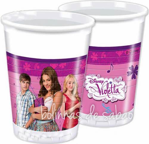Copos Menina 8 unidades - Violetta