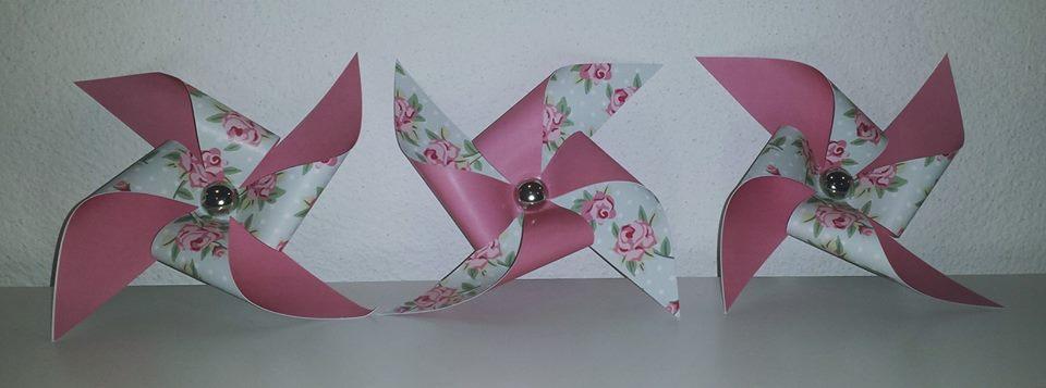 Moinhos Flores 3 unidades - Rosa