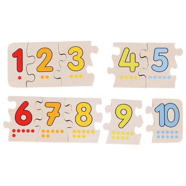 Puzzle de Peças Os Números - Goki