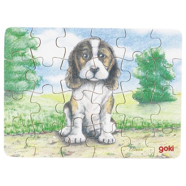 Minipuzzle de Peças Cão - Goki