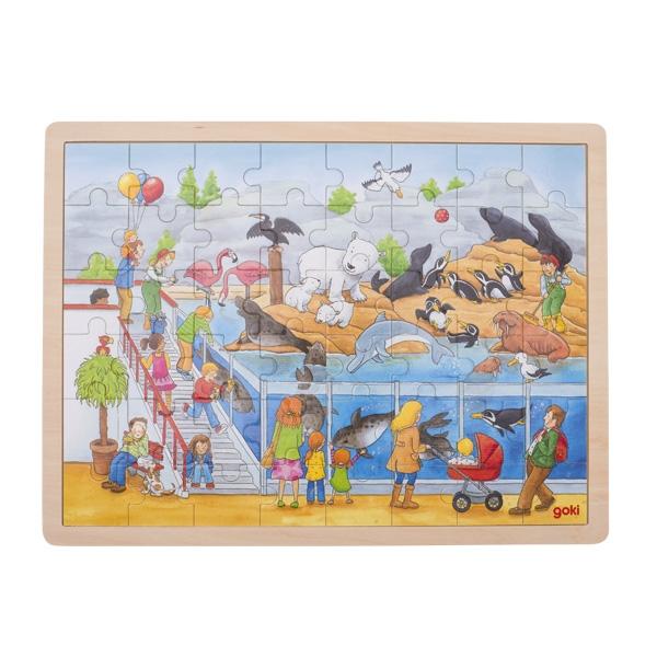 Puzzle de Peças GRANDE Zoo Marinho - Goki