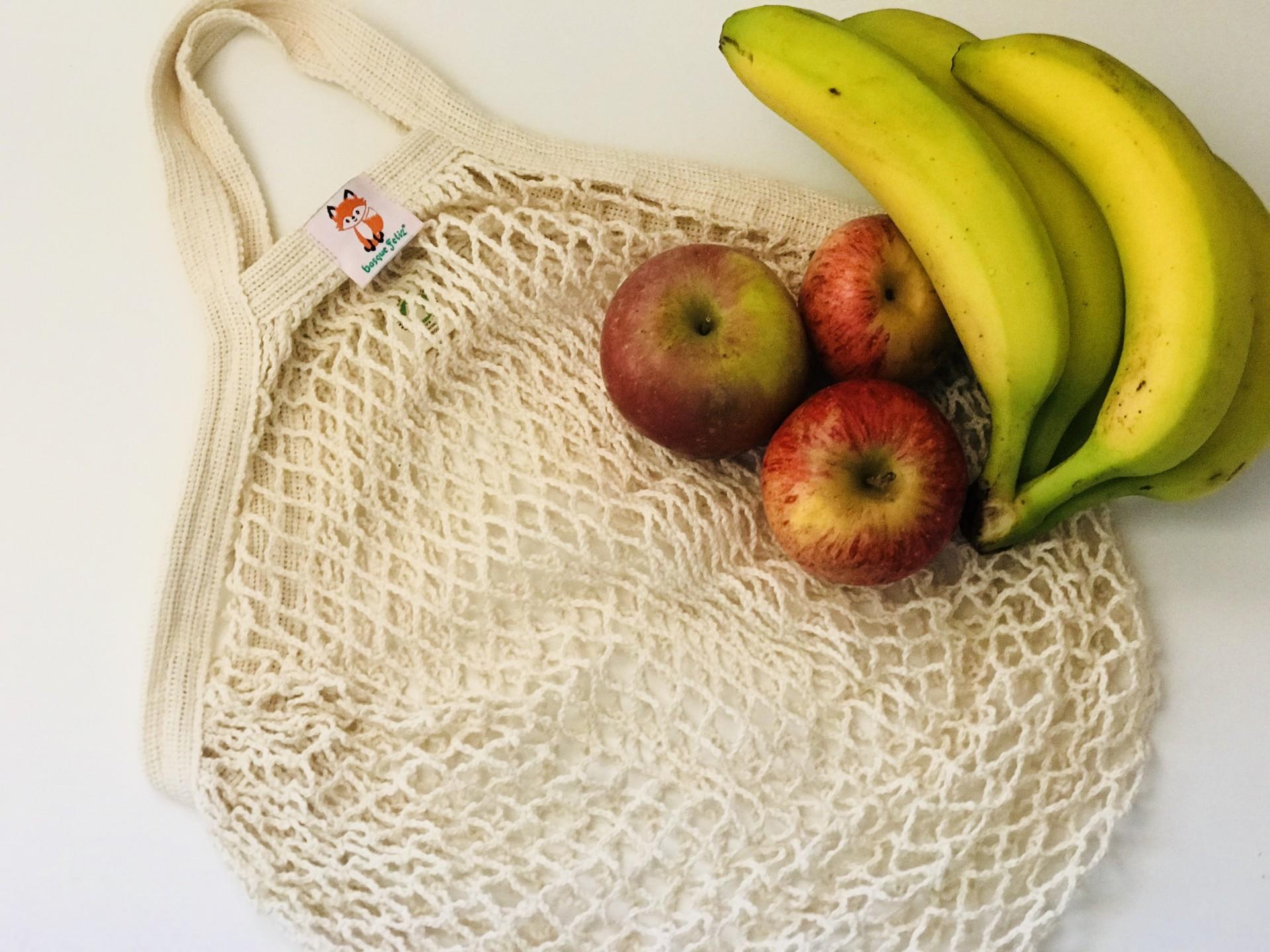 Saco de Rede 100% Orgânico- Bosque Feliz