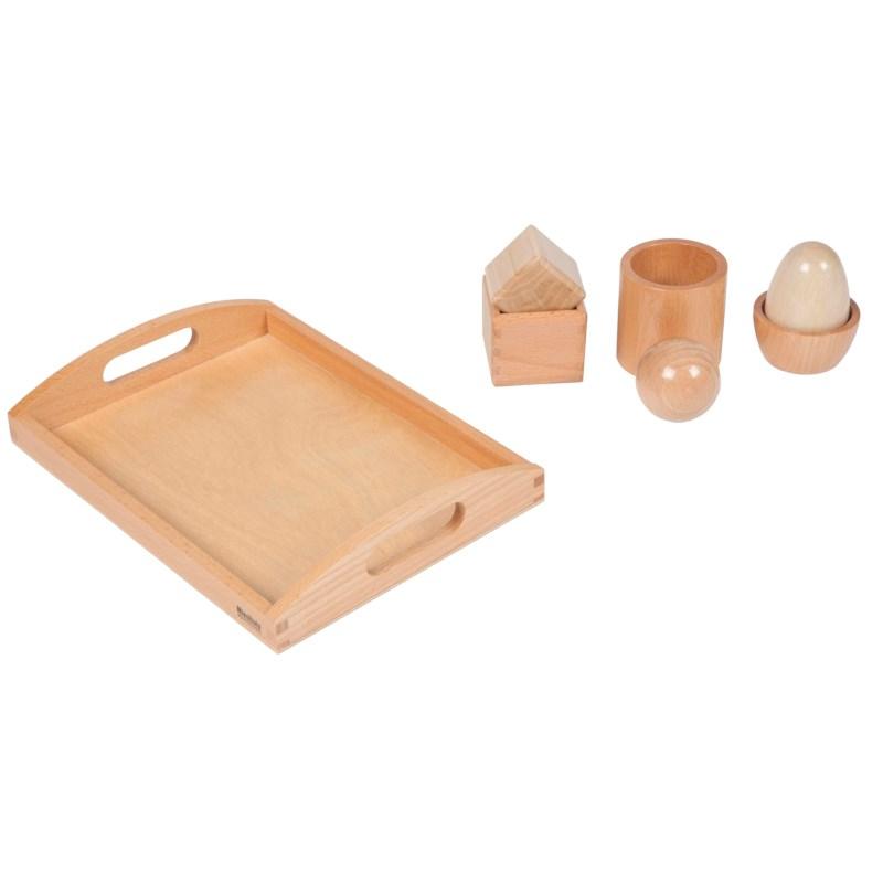 Encaixe de Objectos 3D Exercício de Montagem de Objetos 3D - Nienhuis Montessori