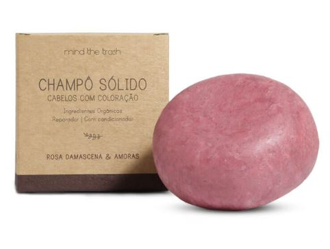 Champô Sólido de Rosa Damascena e Amoras para Cabelos Com Coloração - Mind The Trash