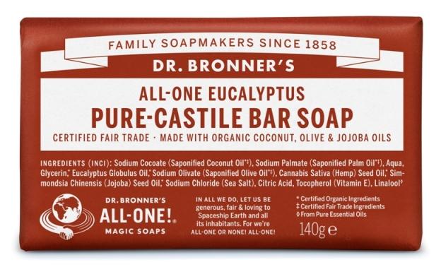Eucalipto Sabonete em Barra biológico - Dr. Bronner's