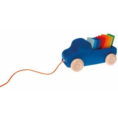 Camião Azul de Puxar com Blocos - Grimm's
