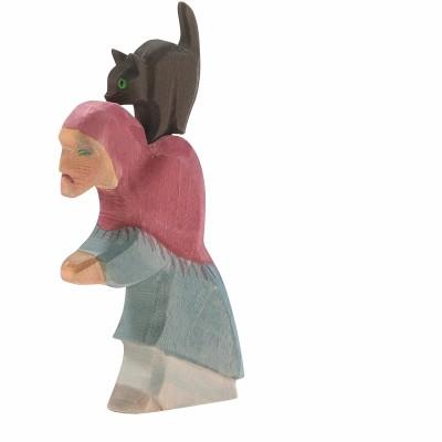 Bruxa com Gato 2 peças - Ostheimer