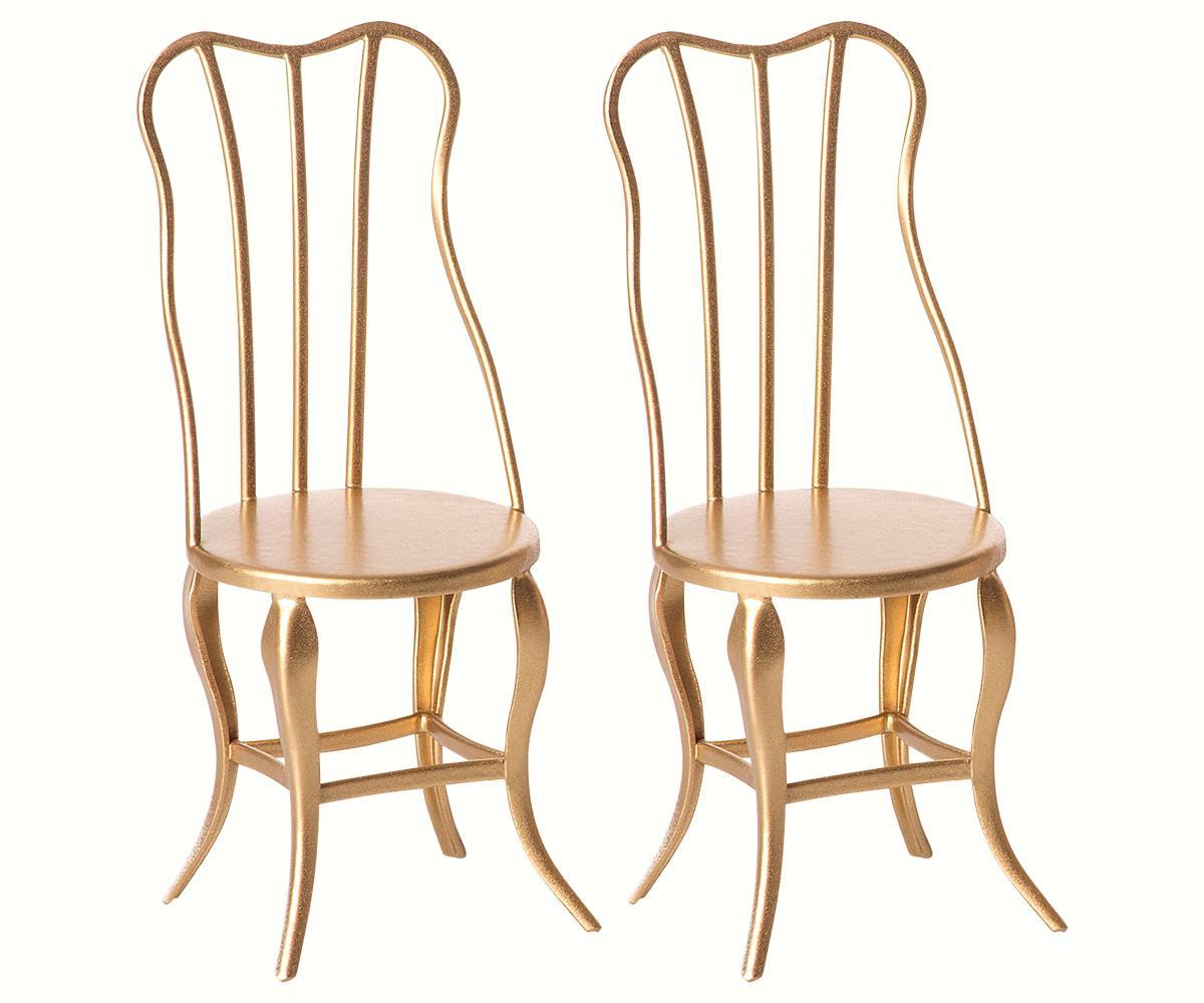 Conjunto 2 Cadeiras Vintage Dourado - Maileg