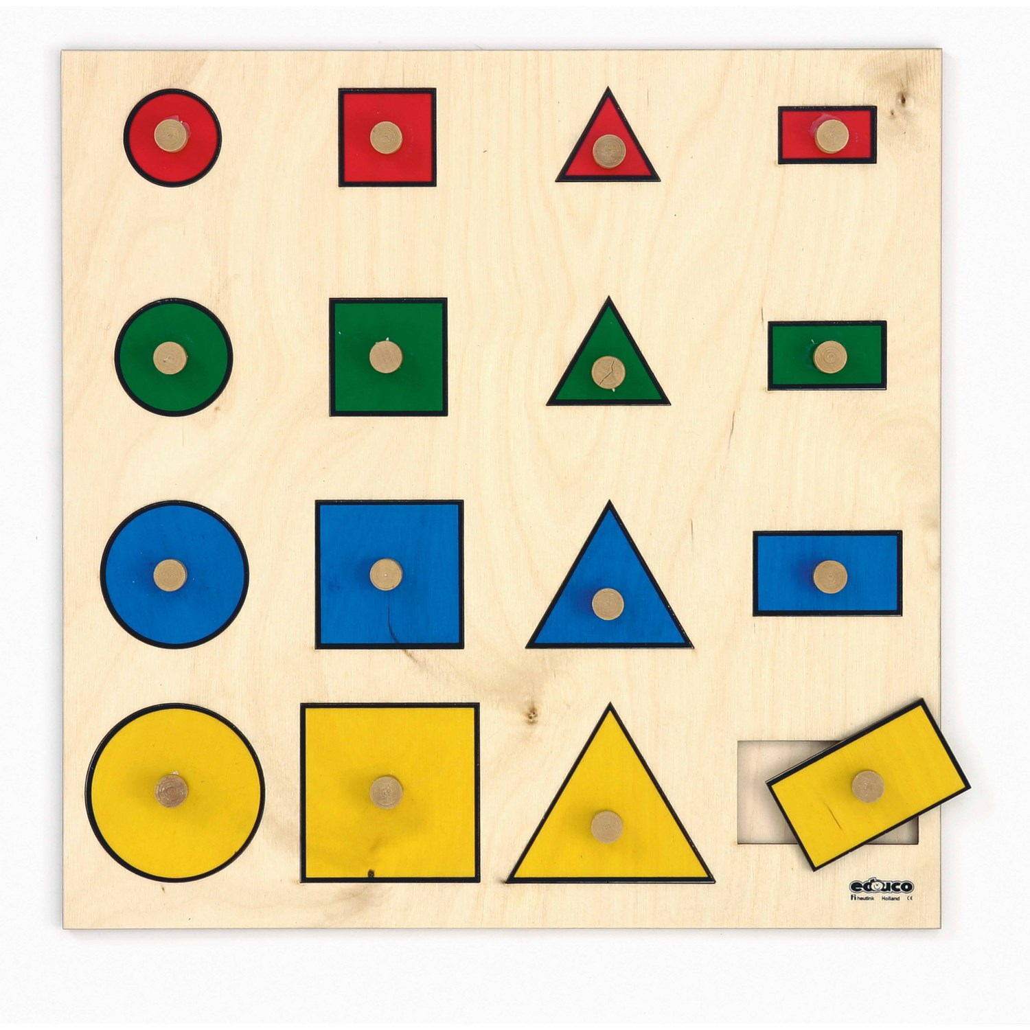 Geometric shapes puzzle - Educo