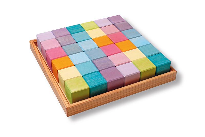 Quadrados 36 Cubos Pastel - Grimm's