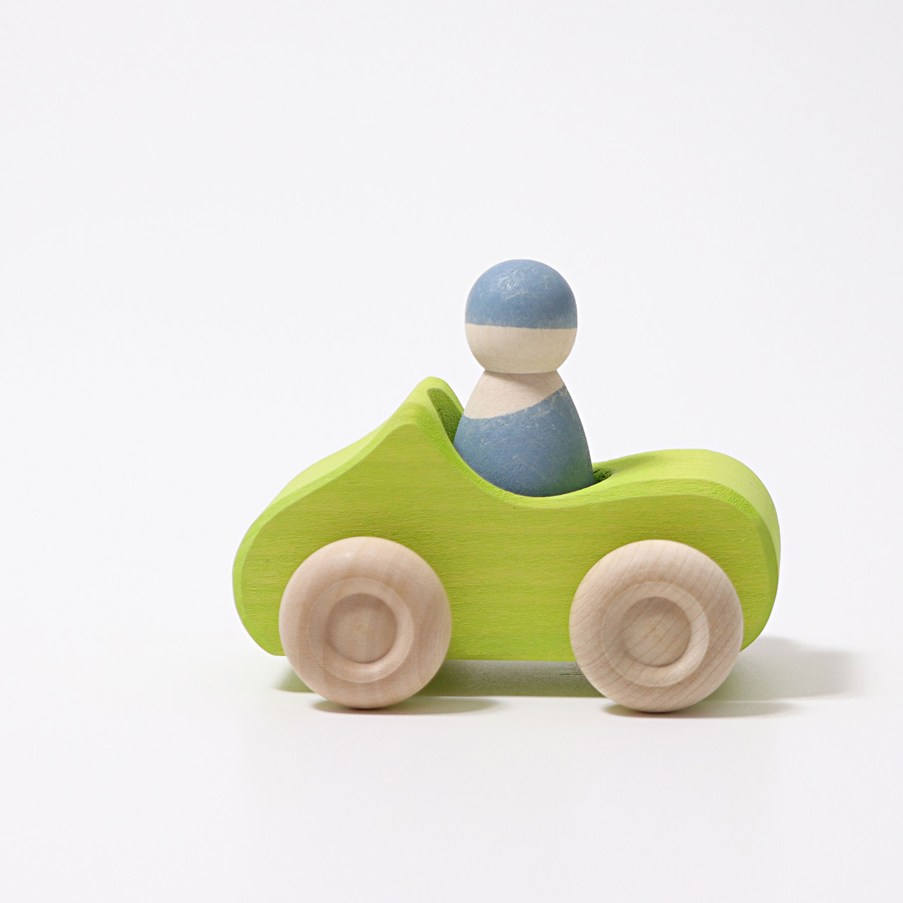 Carro Verde e Boneco Peg Azul - Grimm's