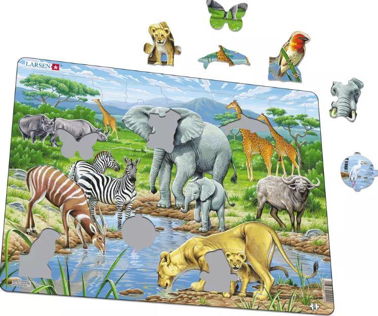 Savana Africana Puzzle de Peças - Larsen