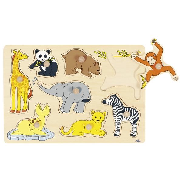 Puzzle de Pegas Animais Selvagens - Goki