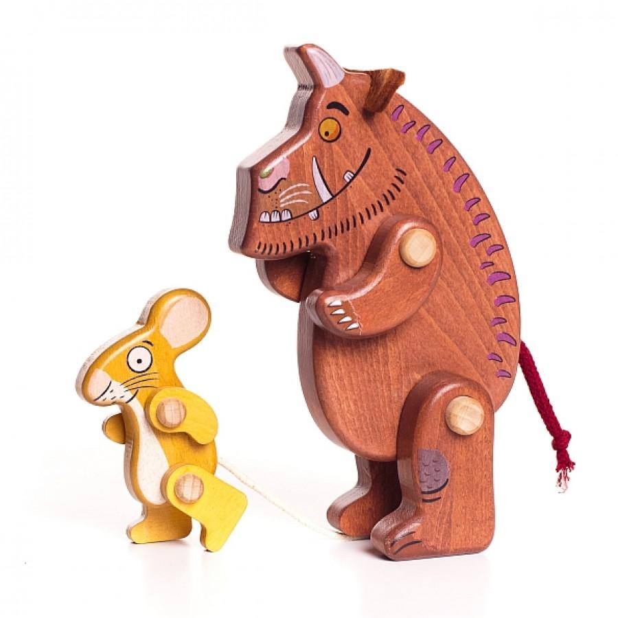 Grufalão & Rato 2 Figuras de Madeira - Bajo