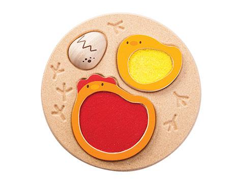 Puzzle a Galinha e o Ovo - Plan Toys