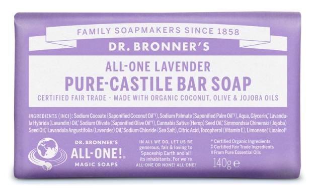 Alfazema Sabonete em Barra biológico - Dr. Bronner's