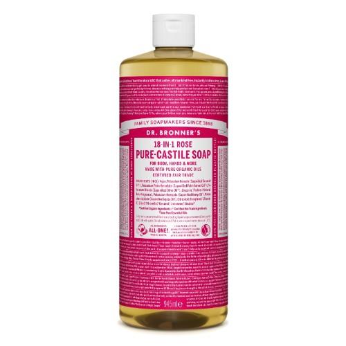 Rosa Sabonete Líquido Biológico - Dr. Bronner's