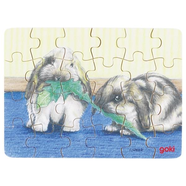 Minipuzzle de Peças Coelhos - Goki