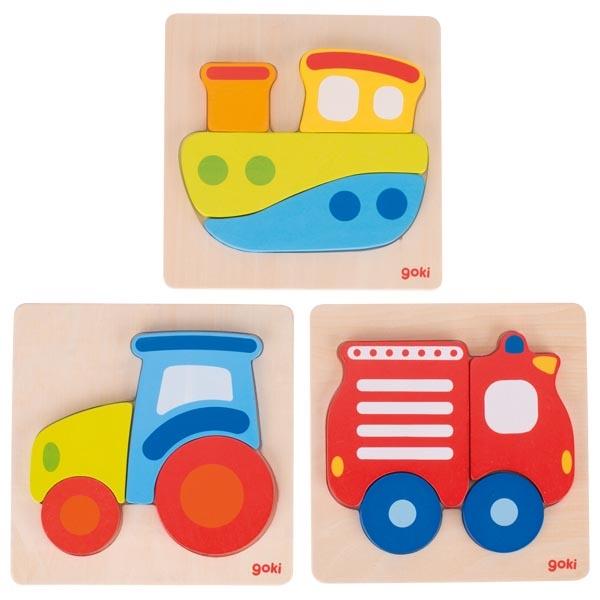Puzzle de Encaixar 3 Modelos - Goki