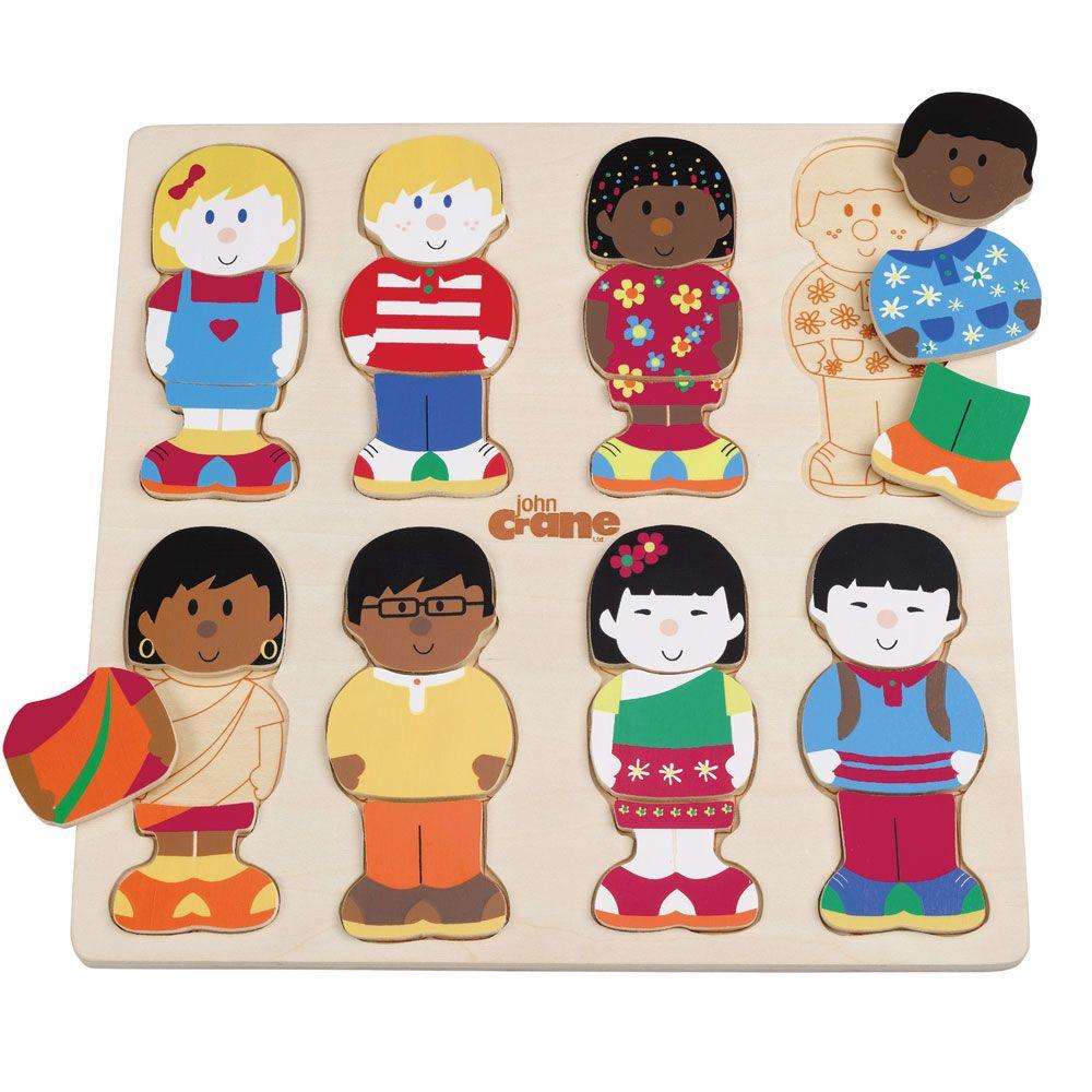 Puzzle de Encaixar Crianças do Mundo - Tidlo