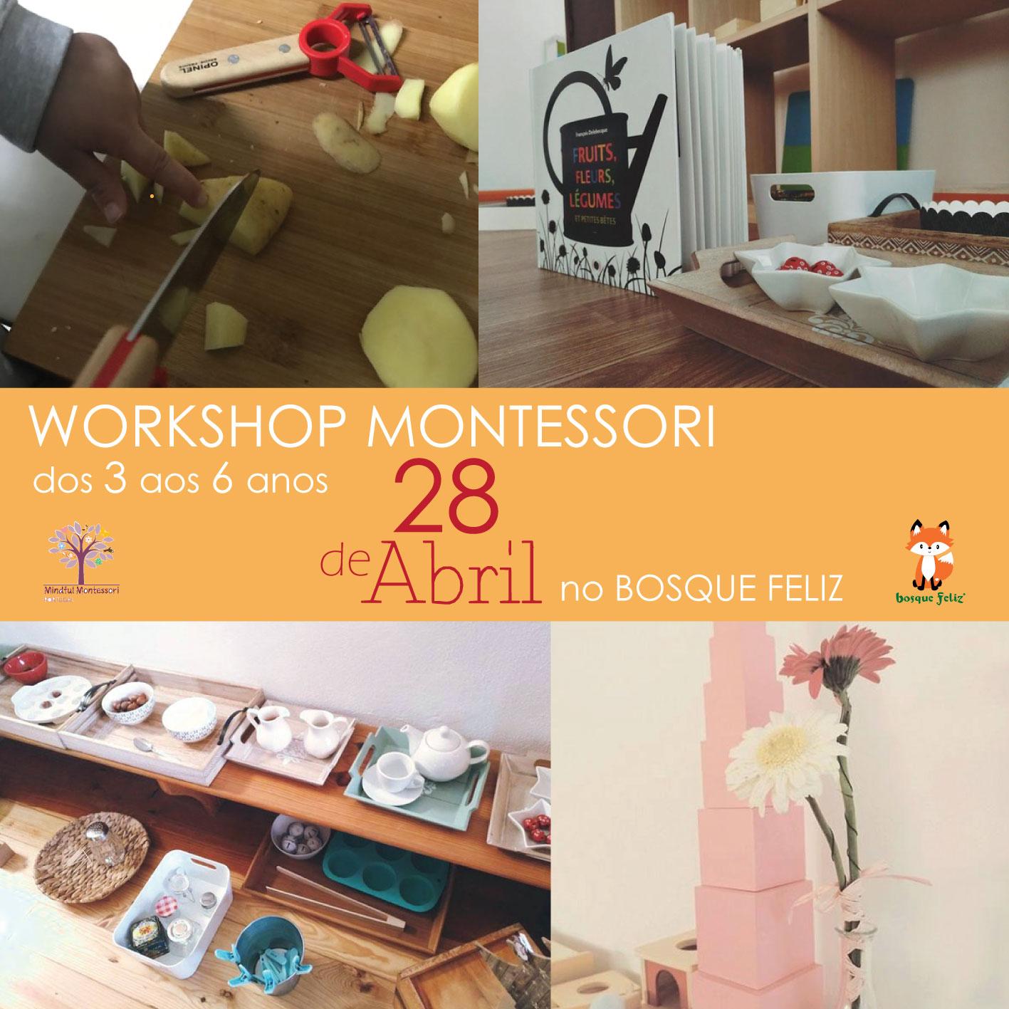 Workshop Montessori 3-6 Anos - 28 de Abril