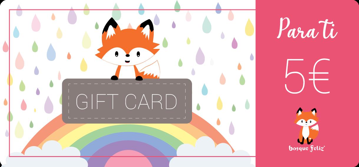 Gift Card 5€ - BOSQUE FELIZ