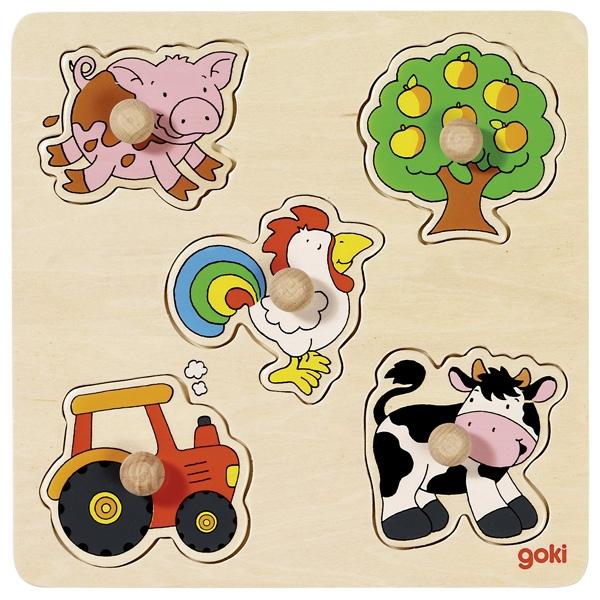 Puzzle de Encaixar Rural - Goki
