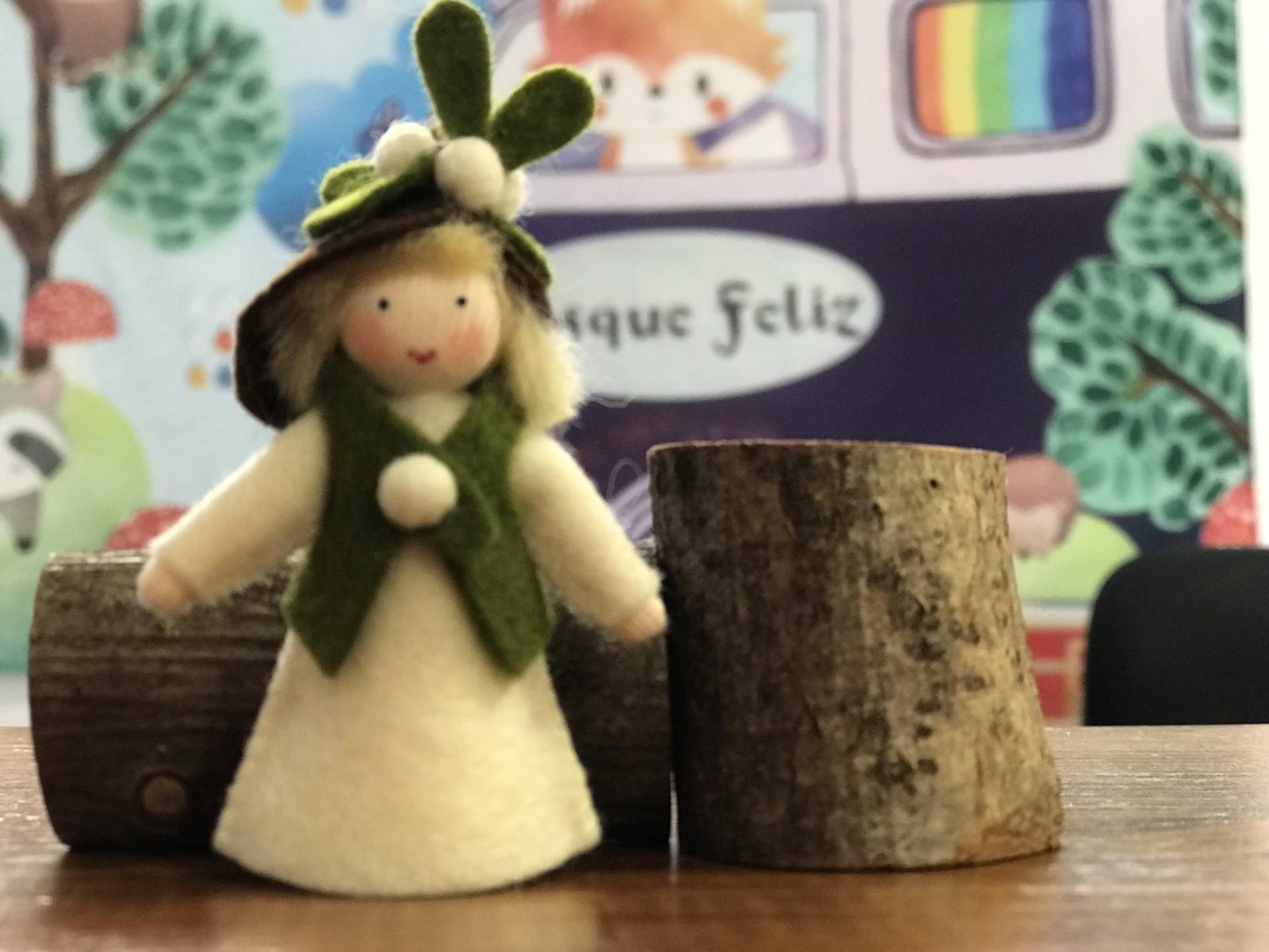 Boneca / Fada Visco com Bagas Branca Menino - Ambrosius