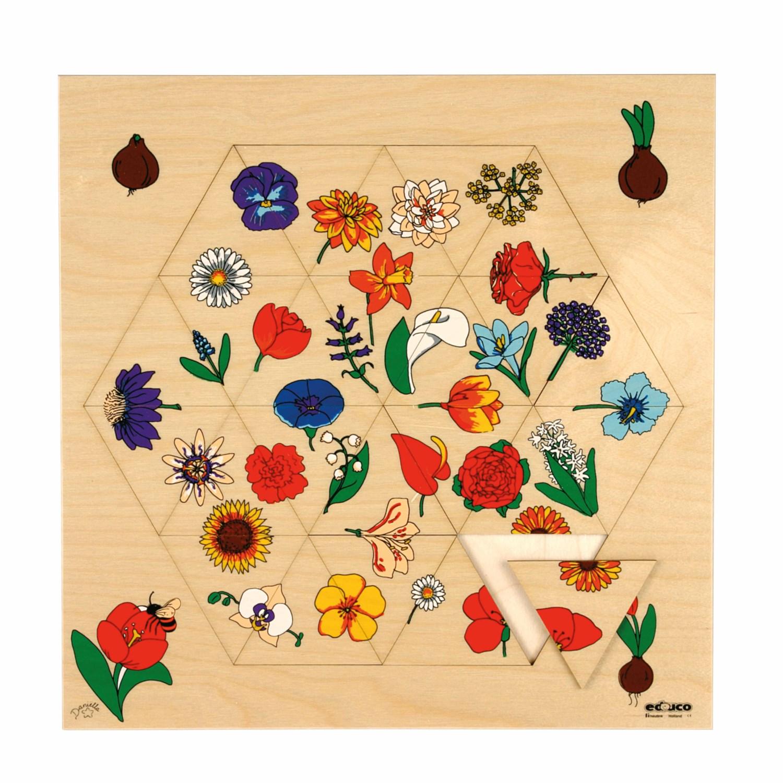 Puzzle Geométrico Flores- Educo