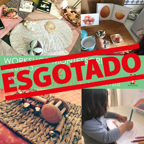 Workshop Montessori 0-3 Anos - 27 de Abril