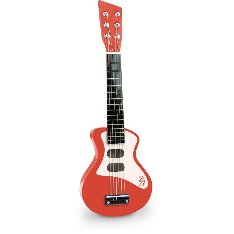 Guitarra Elétrica de Madeira Vermelha - Vilac