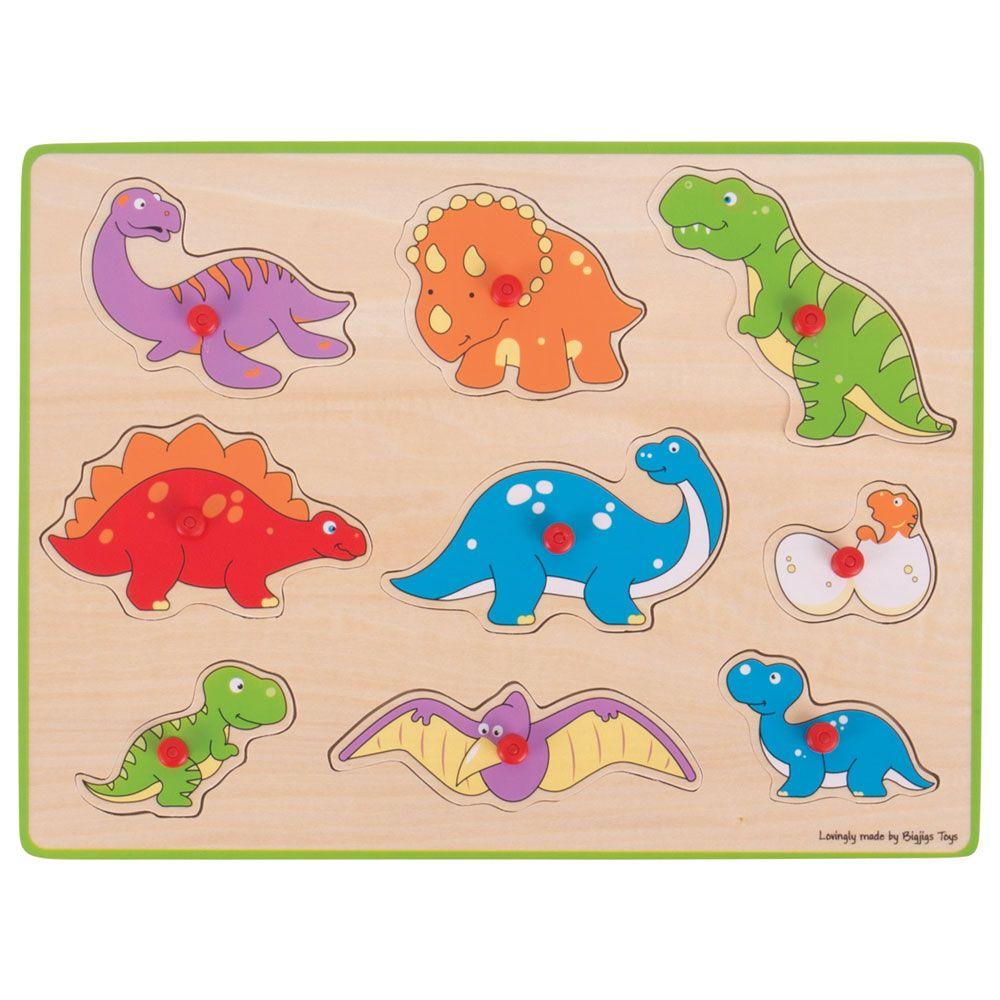 Puzzle de Pegas Dinossauros - BigJigs