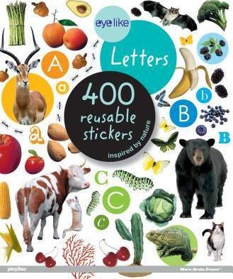 Letras - Livro de Autocolantes Reutilizáveis