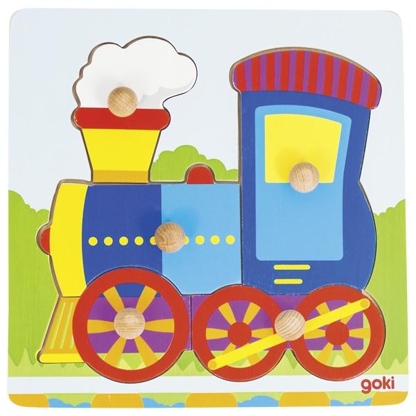 Puzzle de Encaixar Comboio - Goki
