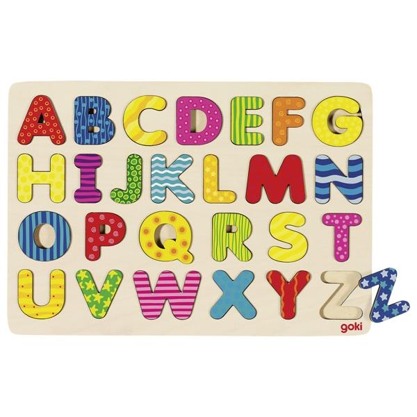 Puzzle de Encaixar Alfabeto - Goki