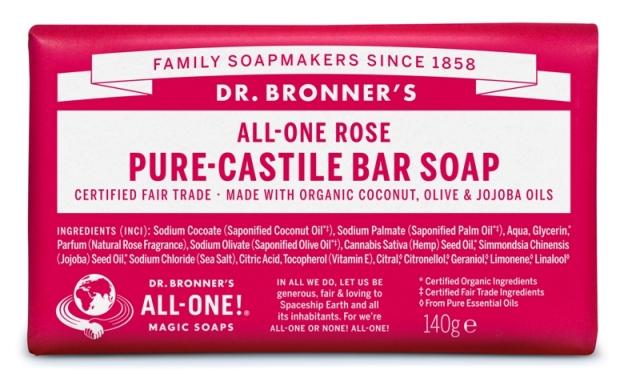 Rosa Sabonete em Barra biológico - Dr. Bronner's