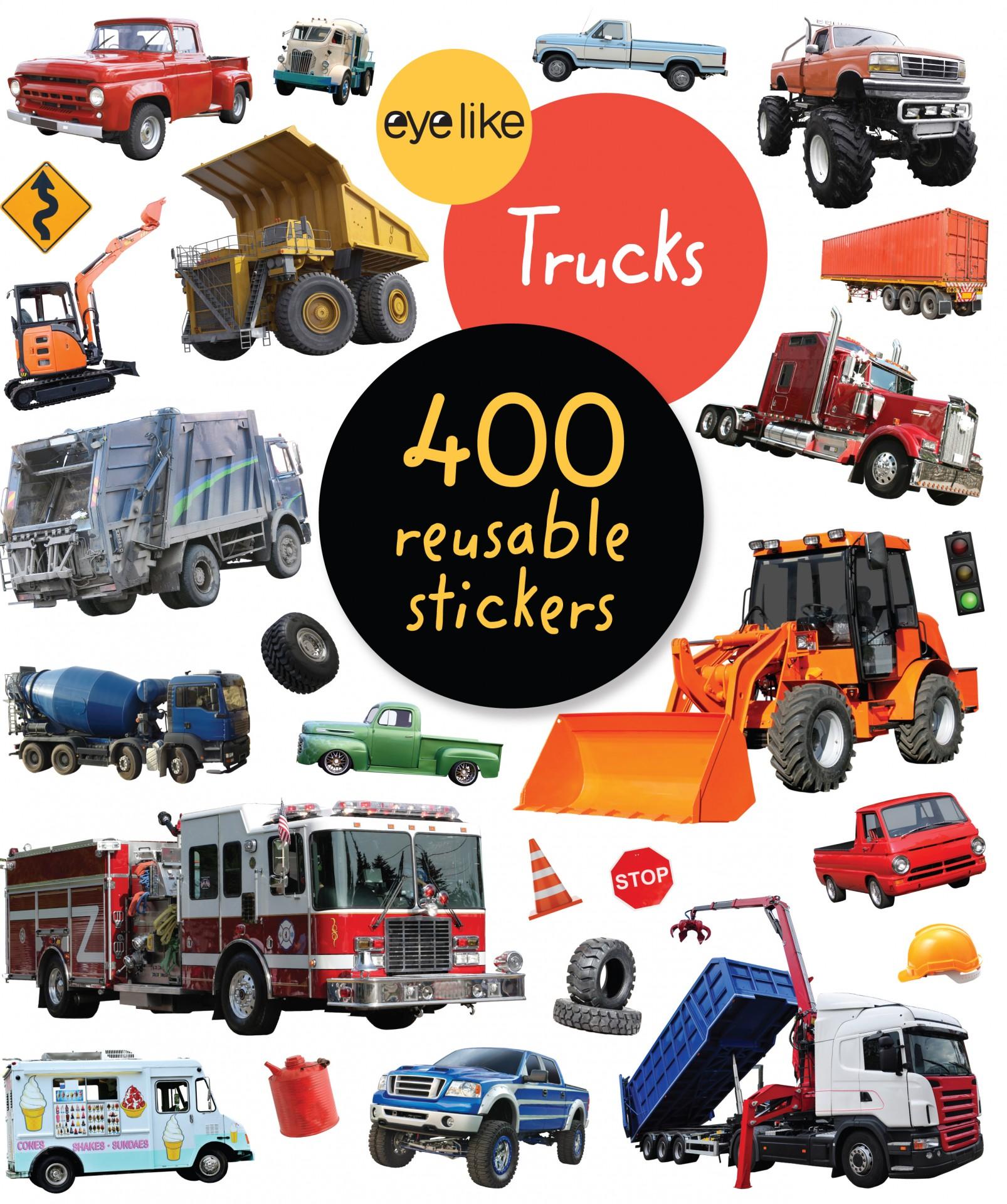 Camiões - Livro de Autocolantes Reutilizáveis